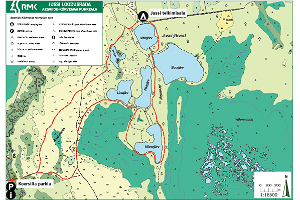 Jussi nature trail - map