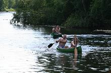 Canoe and boat hire at Reiu Holiday Centre