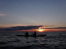 Seikle Vabaks Sunset Kayak Tour around Manija with Accommodation on Maria Farm
