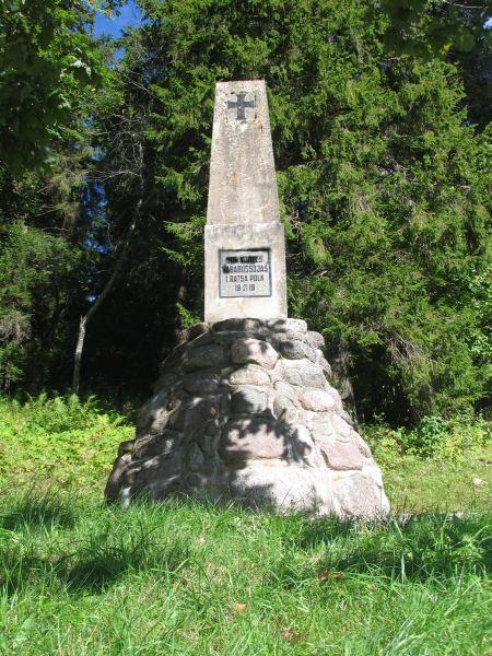Monument to the War of Independence at the foot of Suur Munamägi.