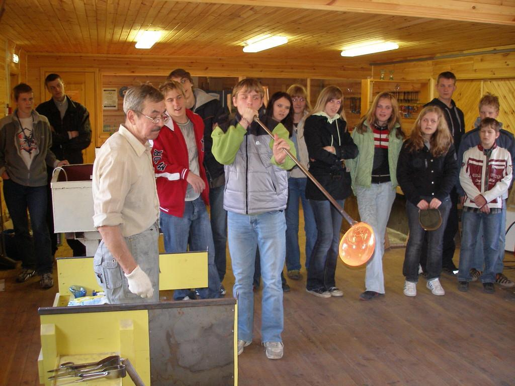 Järvakandi glass museum – glass blowing