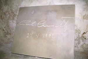 The autograph stone of Carl Gustav XVI