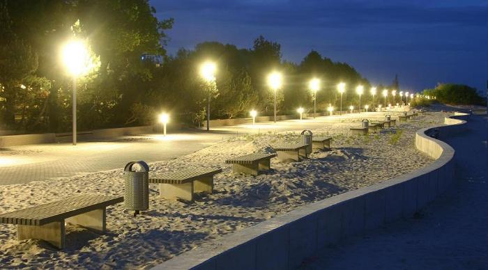 The Beach Promenade in the dark