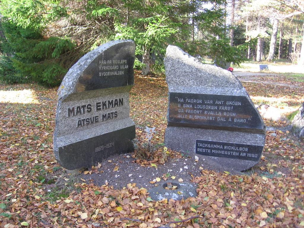 Memorial Stone in Rooslepa Cemetery