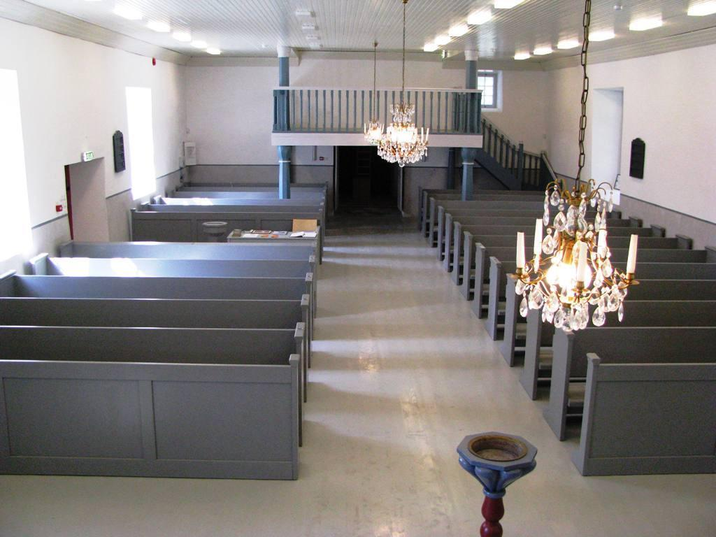 A view inside of the Rooslepa Chapel