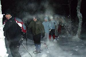 Winter night trek