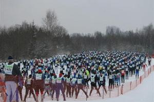 Start of the 63 km Tartu Marathon Track