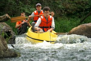 Canoeing and kayaking day trips on Ahja River