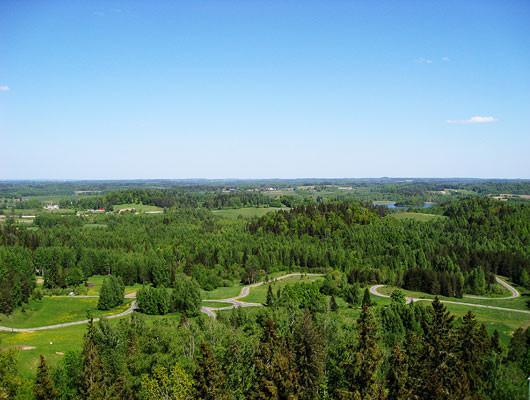 View from the tower of the K90 ski-jump hill