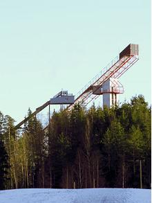 Viewing platform of Tehvandi ski-jump hill