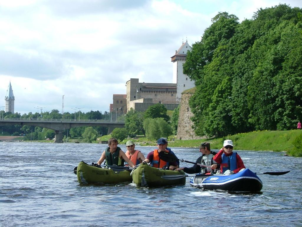 Kayaking on Narva River