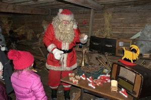 With Santa in the barn