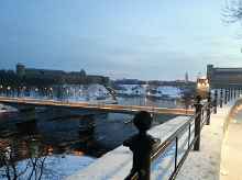 Narva river promenade enchants with historical atmosphere and breathtaking view