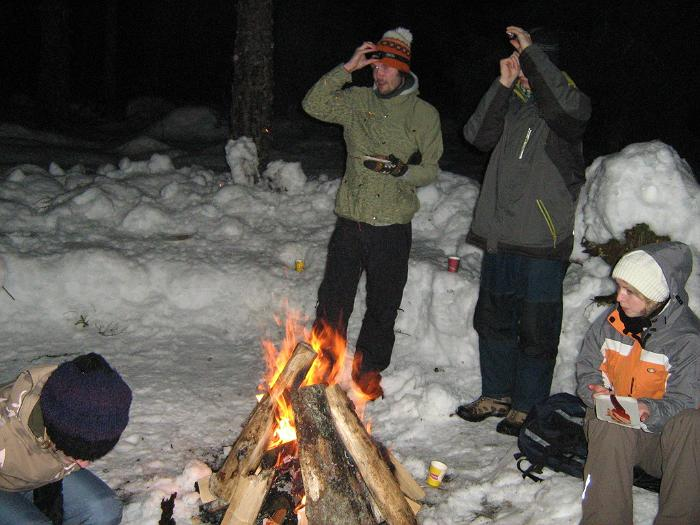 Winter campfires