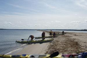 Kayak trips to small islands in Kolga Bay