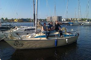 Yacht Ronja in the harbour of Pärnu Yacht Club.