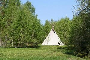 A real Indian tepee.