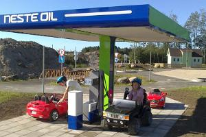 A gas station in the Traffic City of the Laitse RallyPark