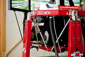 A racing simulator in the Gamehouse of Laitse RallyPark