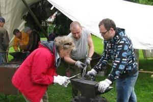 Rossi blacksmiths show off their skills