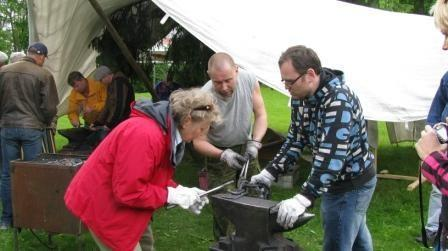 Blacksmiths show off their skills