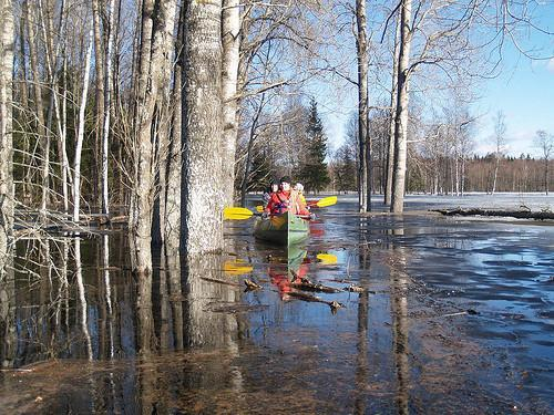 Canoeing during the annual high water