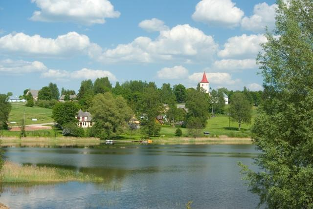 View of St. Mary's Church in Rõuge