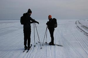 Ski trips on Lake Peipus