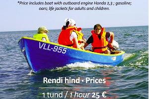 Motorboat hire and rental