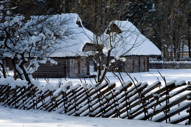 Winter at the Estonian Open Air Museum
