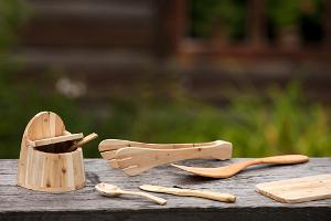 Juniper wood items