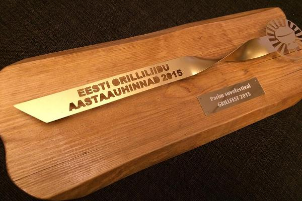 Annual award of the Eesti Grilliliit (Estonian Grilling Union) is also presented at the award ceremony during the Festival.