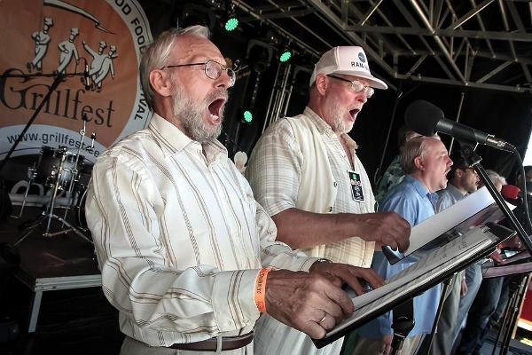 Men of the Estonian National Male Choir sing the mightiest of songs - Ode to the Grillfest!