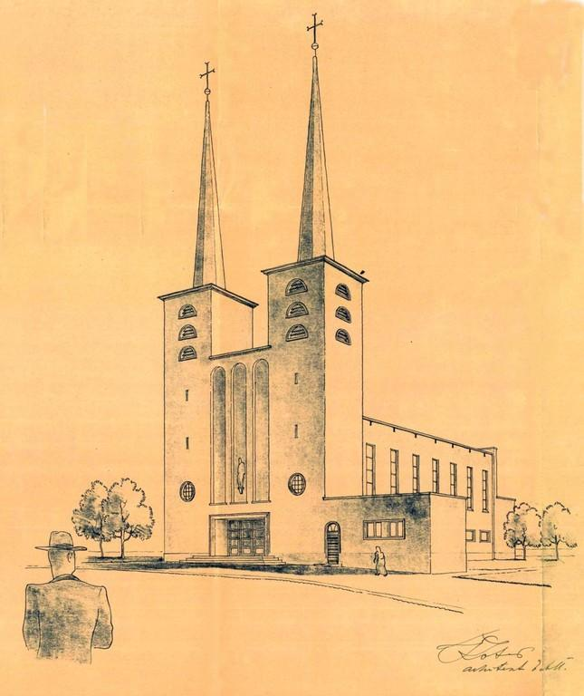 St. Paul's Freedom Church in Alar Kotli's drawings