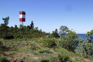 Light beacon at the edge of a bluff on Väike-Pakri