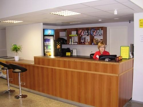 The Sport Centre's reception desk