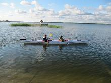 Family trip in kayaks on Haapsalu Bay