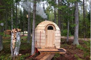 Igloo sauna at the Secret Land of Taevaskoda