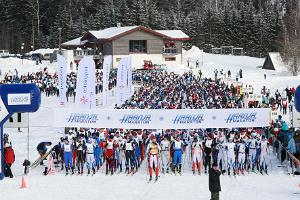 Start of Haanja Ski Marathon