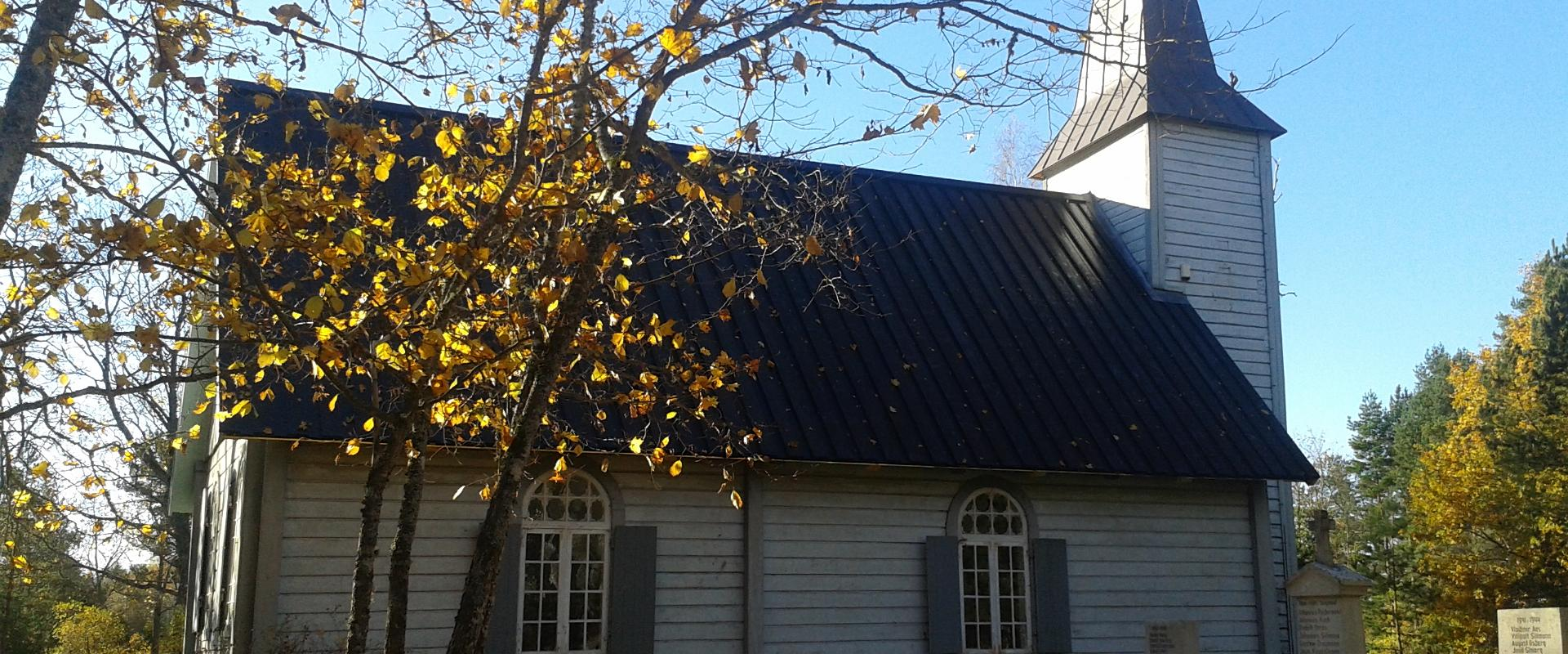 Nõva Church with its new roof in 2014