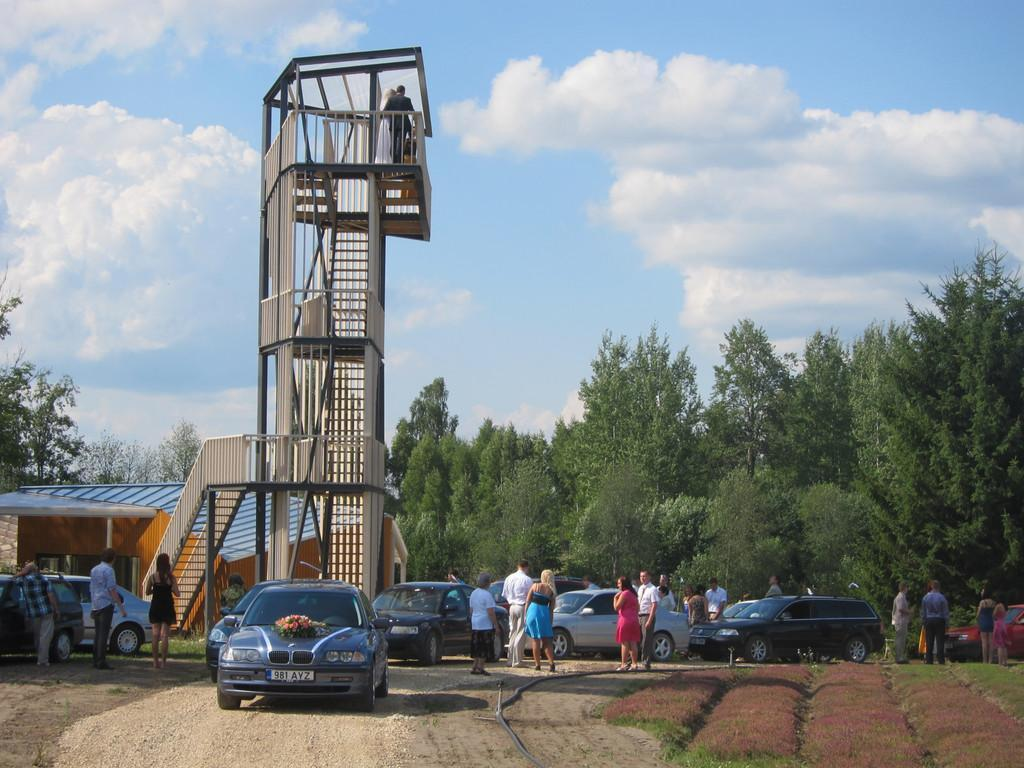 Energy Farm teahouse and viewing tower