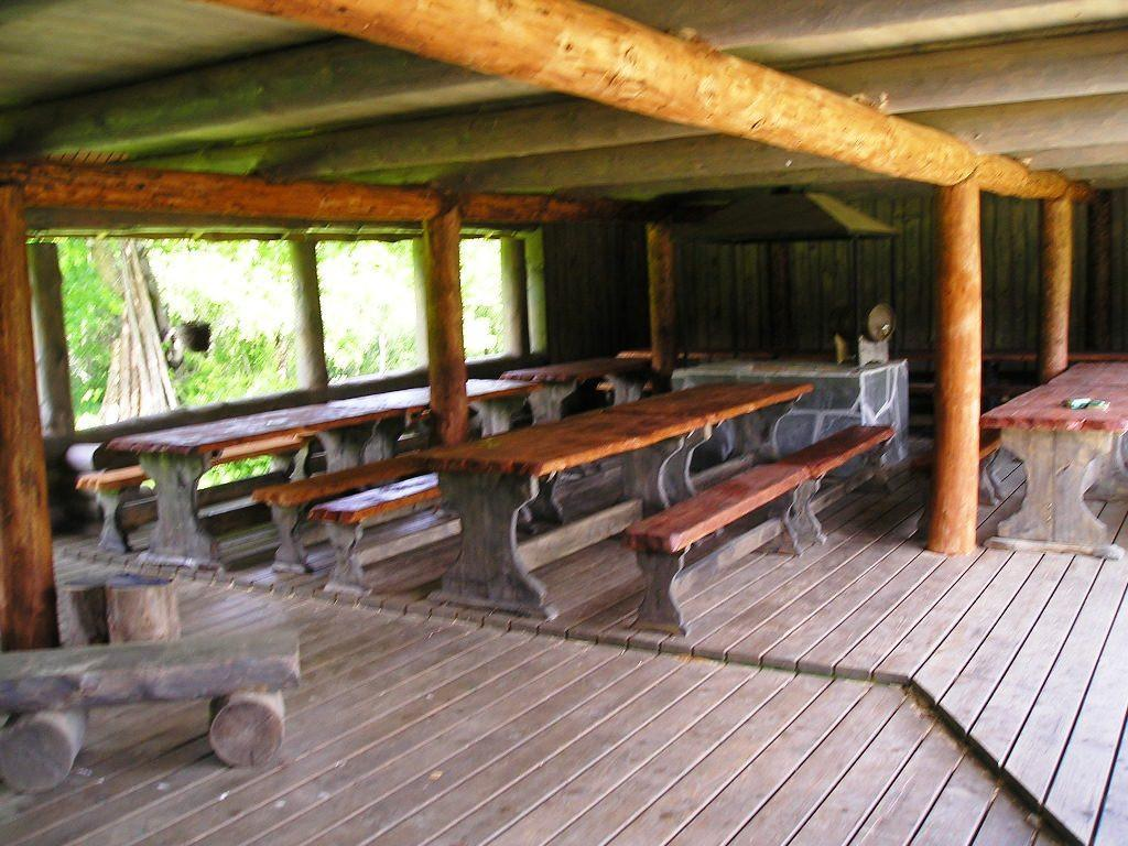Tamme Holiday House, roofed area of the Grill house