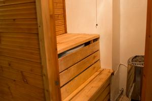 Shower and sauna on the ground floor