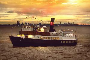 Dinne Cruise, or a meal on the sea onboard steamer Katharina