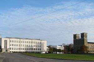 Rakvere Secondary School (building on the left)