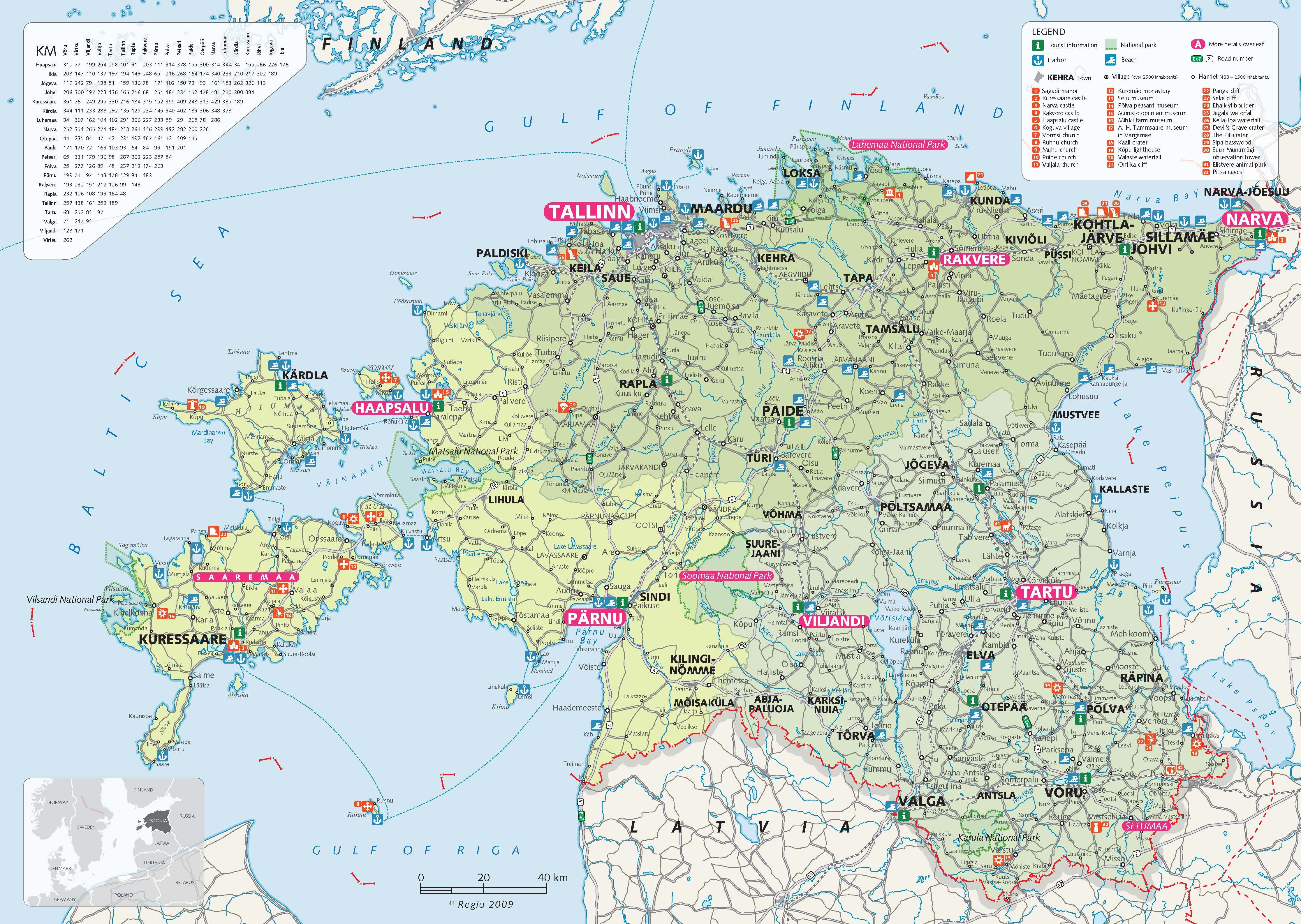 Brochures about estonia map of estonia gumiabroncs Image collections