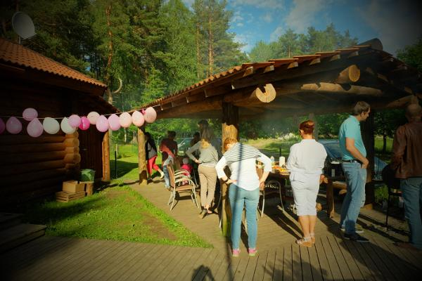 Shelter of Ella of Kallaste Tourist Farm, birthday party