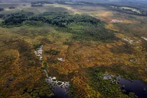 Areal photograph of Meelva landscape protection area