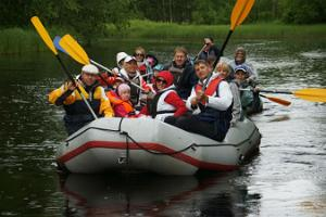 Water trip to Aidu fjords or the River Purtse