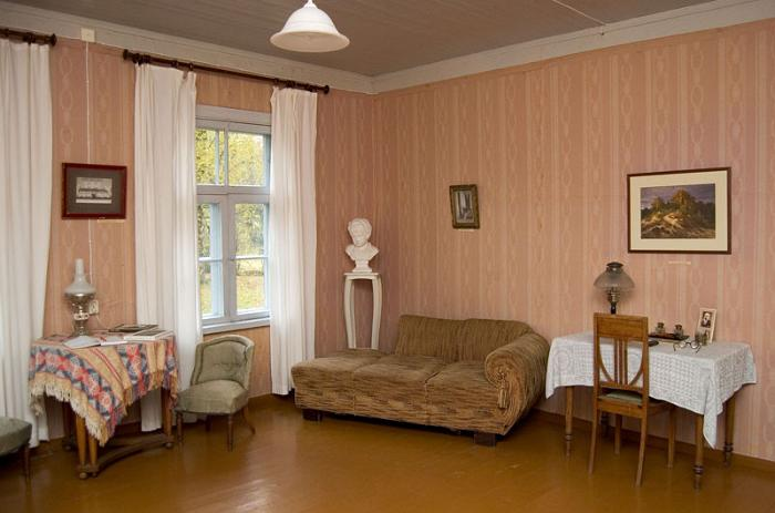 Living room at the Mart Saar Museum
